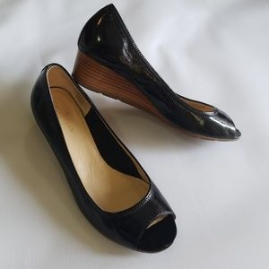 Cole Haan nike air open toe wedges shoes sz7.5